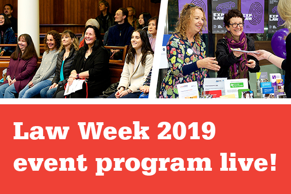The Law Week 2019 program is now live!